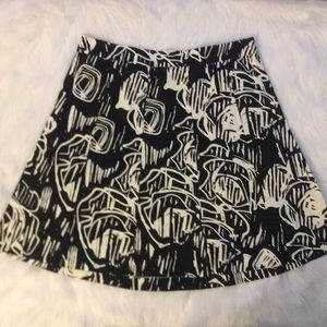 Lane Bryant Black and White A Line Skirt size 18